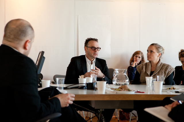 Michael Speaks at White Arkitekter. Photo: Thomas Zaar