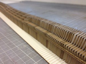 Laser cut model of overall design